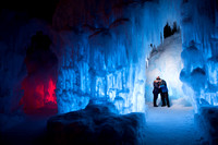 Jesse and Beth Ice Castle Engagement